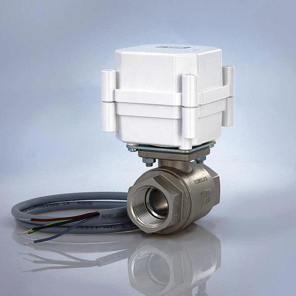 Водопроводный кран с электроприводом