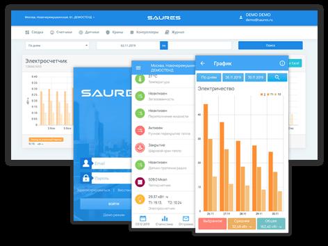 Доступ к Облаку SAURES с любого устройства: ПК, смартфона или планшета